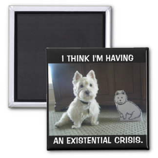 Twin Westies Photo Magnet