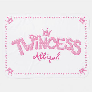 Twincess Twin Girl Baby Blanket (Pink)