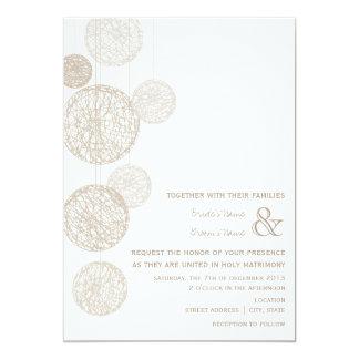 "Twine Globes Wedding Invitation 5"" X 7"" Invitation Card"