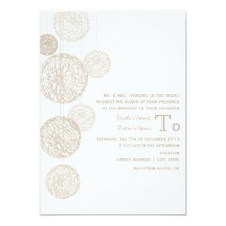 Twine Globes Wedding Invite From Bride's Parents