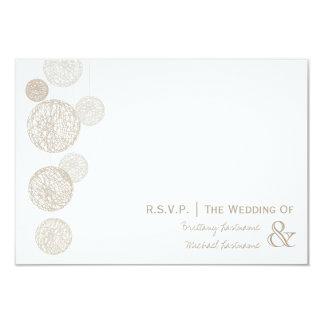 Twine Globes Wedding R.S.V.P. 9 Cm X 13 Cm Invitation Card