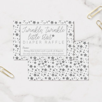 Twink Twinkle Little Star Baby Showr Diaper Raffle Business Card