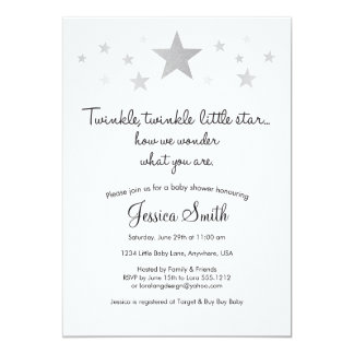 Twinke Twinkle Little Star Baby Shower Invitation