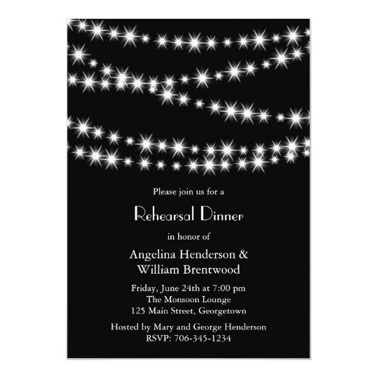 Twinkle Lights Rehearsal Dinner Invitation