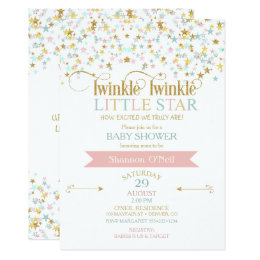 Baby shower invitations announcements zazzle uk twinkle little star baby shower any color card filmwisefo Image collections