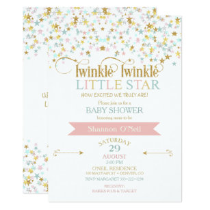 twinkle little star invitations announcements zazzle uk