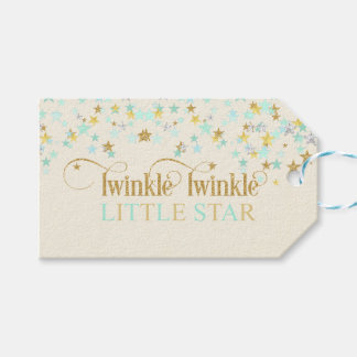 Twinkle Little Star Baby Shower Mint Green