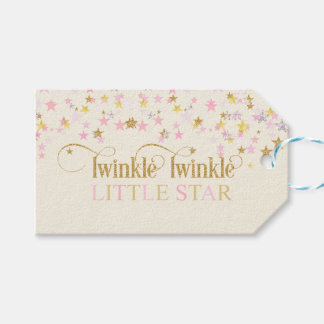 Twinkle Little Star Baby Shower Pink Gold