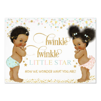 Twinkle Little Star Ethnic Baby Gender Neutral Card