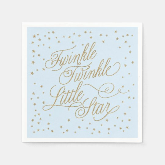 Twinkle Little Star Gold & Blue Baby Shower