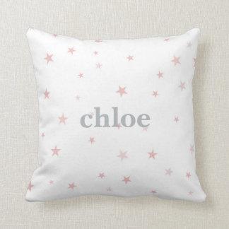 Twinkle Little Star Pink Baby Girl Nursery Cushion