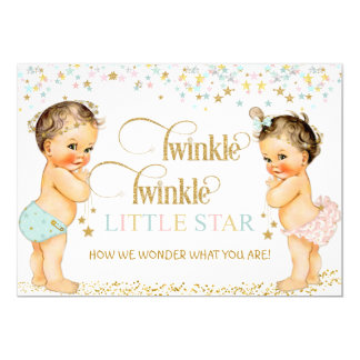Twinkle Little Star Vintage Baby Gender Neutral Card