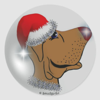 Twinkle Nose Pup Round Sticker