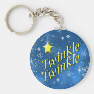 Twinkle Snowflake Key Ring