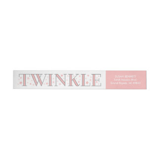 Twinkle Star Baby Shower Return Address Label