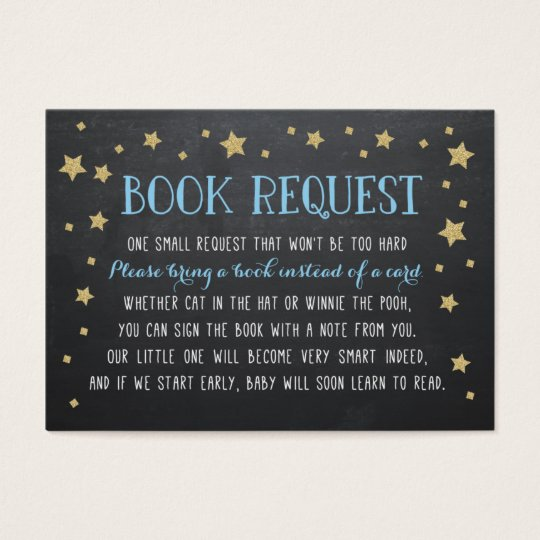 Twinkle Star Book Request, Nursery Rhyme Business Card