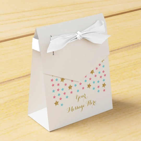 Twinkle Star Gender Reveal Party Favour Boxes