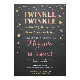 Twinkle Star Invitation / Twinkle Twinkle Invite