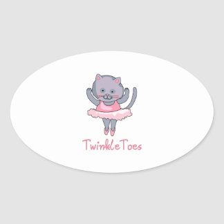 TWINKLE TOES OVAL STICKERS