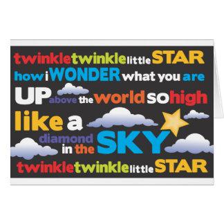 Twinkle Twinkle Greeting Card