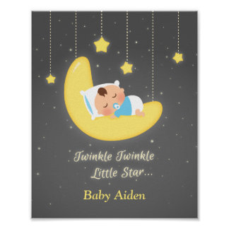 Twinkle Twinkle Little Star Baby Nursery Decor Poster