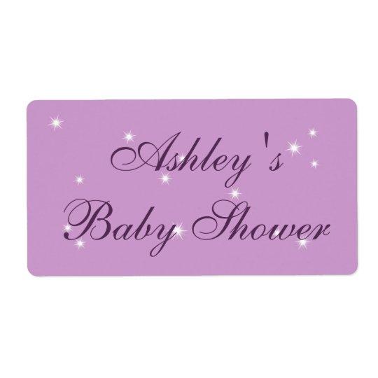 Twinkle Twinkle Little Star baby Shower Label
