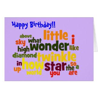 Twinkle twinkle little star - birthday card