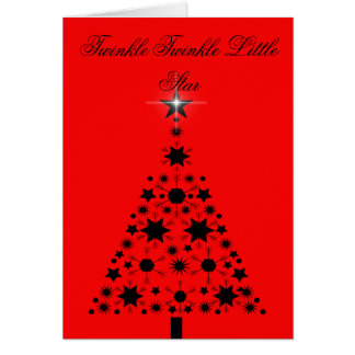 TWINKLE TWINKLE LITTLE STAR CHRISTMAS CARD