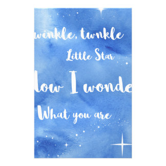 Twinkle Twinkle Little Star Customised Stationery