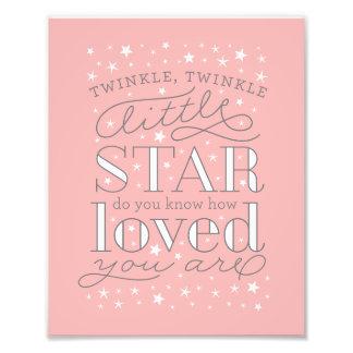 Twinkle Twinkle Little Star Nursery Art Print Photograph