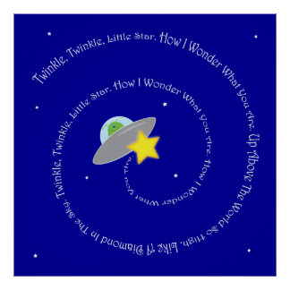 twinkle, twinkle, little star poster