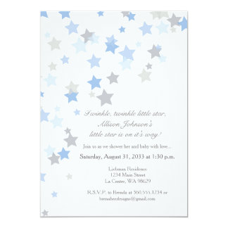 Twinkle Twinkle Little Star Silver Invitation