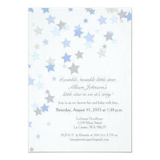 Twinkle Twinkle Little Star Silver Invitation