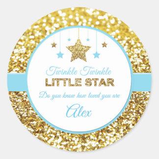 Twinkle twinkle little star stickers baby blue