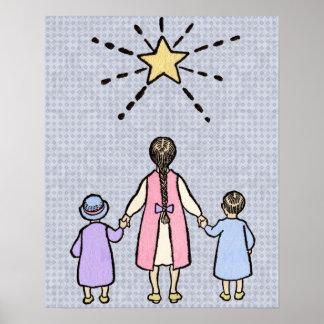 Twinkle, Twinkle Little Star Vintage Nursery Rhyme Posters
