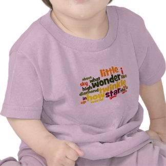 Twinkle Twinkle Little Star wordart infant t-shirt