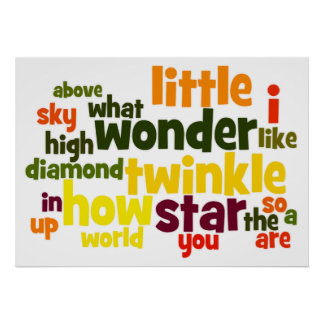 Twinkle, Twinkle Little Star wordart Poster
