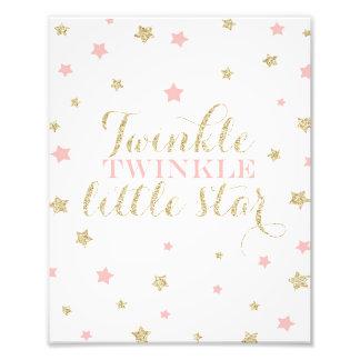 Twinkle Twinkle Little Stars Nursery Print