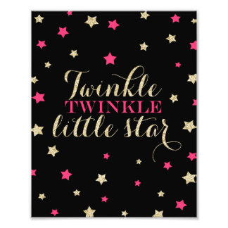 Twinkle Twinkle Little Stars Nursery Print Art Photo