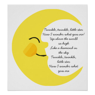 Twinkle Twinkle Moon Poster