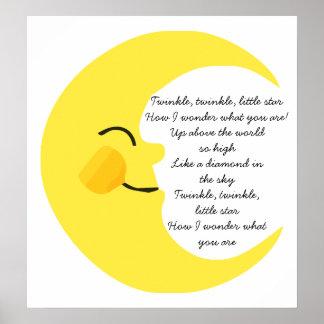 Twinkle Twinkle Moon Posters