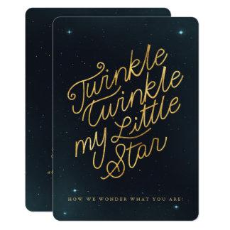Twinkle twinkle my little star card