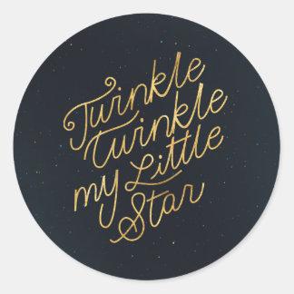 Twinkle twinkle my little star classic round sticker