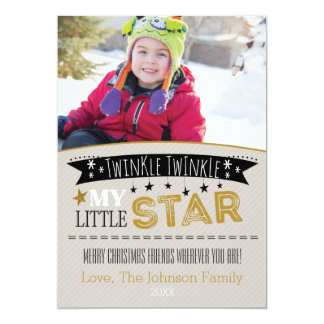 Twinkle Twinkle My Little Star PhotoChristmas Card 13 Cm X 18 Cm Invitation Card