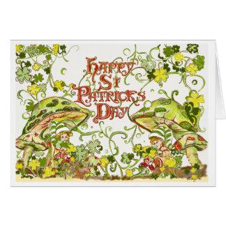 Twinkling Irish Leprechauns Greeting Card