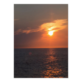 Twinkling Sunset Over Ocean Card