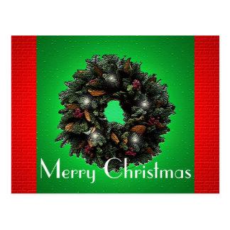 Twinkling Wreath Postcard
