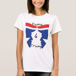 Twins4Trump woman's shirt