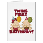Twins 1st Birthday Boy/Girl T-shirts and Gifts Greeting Card