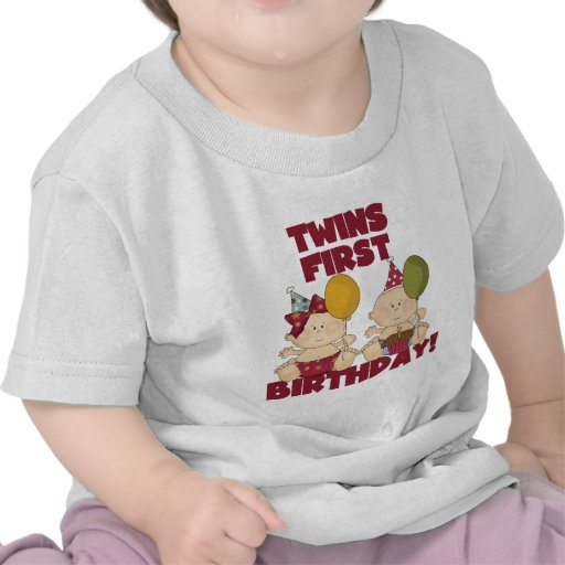 Twins 1st Birthday Boy/Girl T-shirts and Gifts